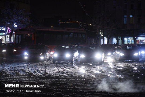 Hemedan'da kar yağışı