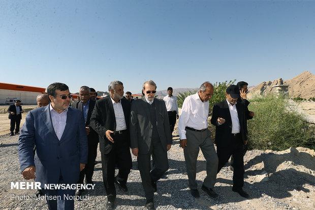 بازدید رئیس مجلس از پروژه بزرگ پرورش ماهی در استان هرمزگان