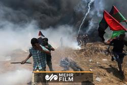 حمله نظامیان صهیونیستی به فلسطینیان در نوار غزه