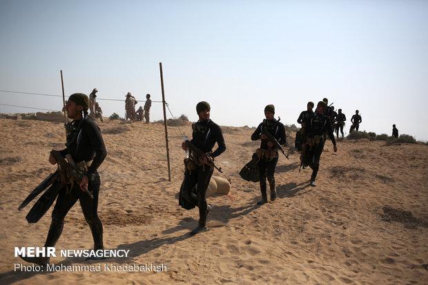 رزمایش تهاجمی پیامبر اعظم ۱۲ سپاه در جزیره قشم