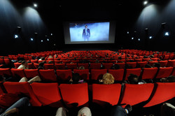 This file photo shows filmgoers watching a movie at a theater of Tehran's Kurosh Cineplex.