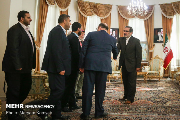 Shamkhani receives Palestinian delegation in Tehran