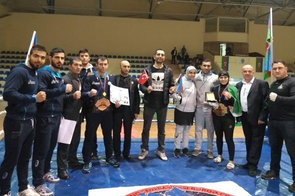 Iranian athletes rake in golds at martial arts festival in Azerbaijan