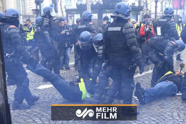 فلم/ فرانسیسی مظاہرین کے نام آیت اللہ اراکی کا پیغام