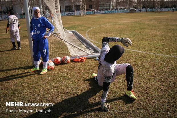 Iran women's national football team training session