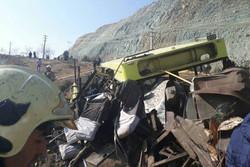 Deadly bus crash in north of Tehran