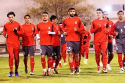 برگزاری آخرین تمرین تیم فوتبال امید در تهران