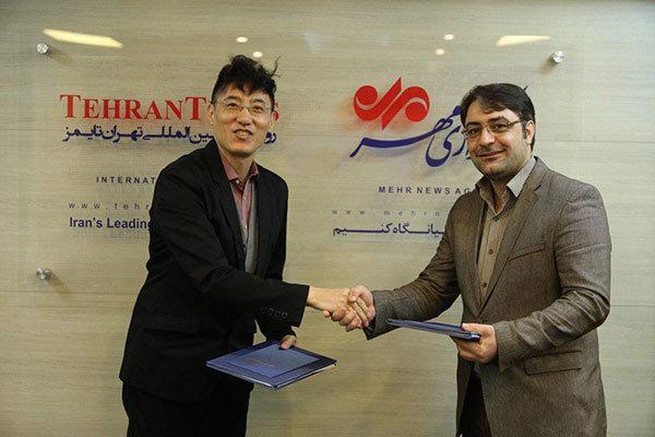 """طهران تايمز ووكالة """"شينهوا"""" توقعان اتفاقية تعاون اعلامي"""