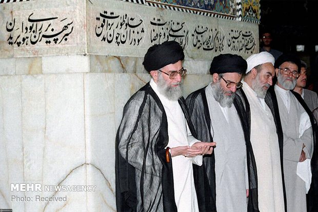 Photos of Islamic Revolution Leader with late Ayatollah Shahroudi