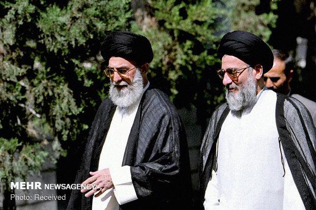 تصاویری از آیتالله هاشمی شاهرودی در کنار رهبر انقلاب