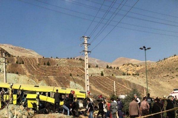۷ فوتی و ۲۸ مصدوم در حادثه واژگونی اتوبوس دانشجویان