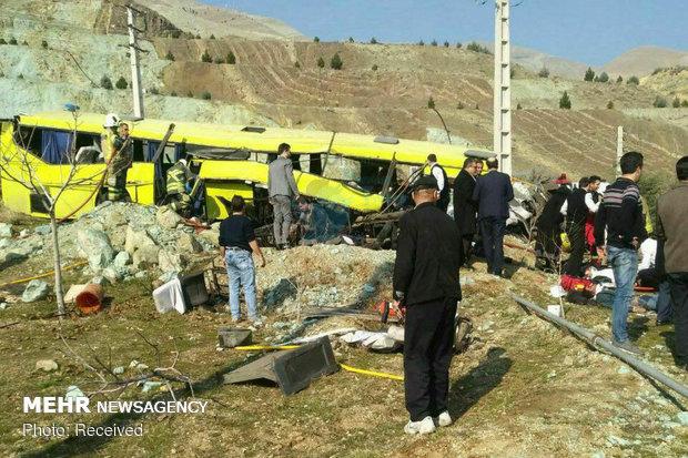 Bus crash in north of Tehran