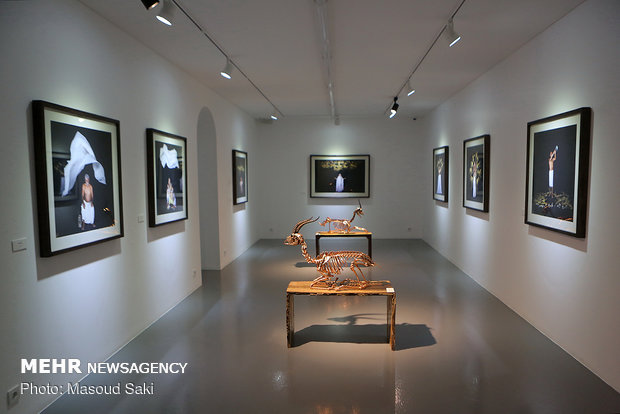 Photo, sculpture gallery dedicated to Hormuz gazelles