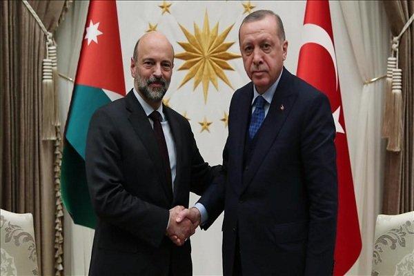 ترک صدر کی اردن کے وزیر اعظم سے ملاقات