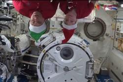 کریسمس در ایستگاه فضایی بین المللی برگزار شد