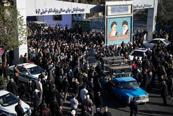 تہران میں مرحوم آیت اللہ ہاشمی شاہرودی کی تشییع جنازہ