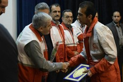 ۵۲ امدادگر جمعیت هلال احمر فومن تجلیل شدند