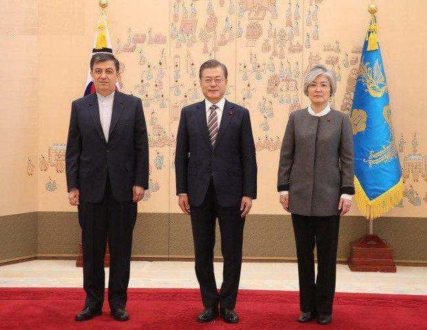 السفير الايراني الجديد يقدم أوراق اعتماده للرئيس الكوري الجنوبي