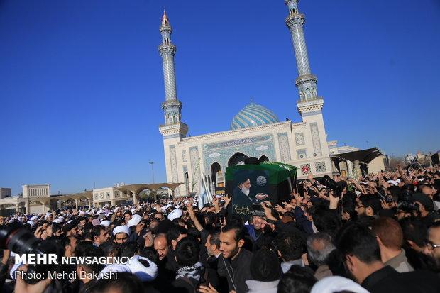 تشييع جثمان آية الله السيد محمود هاشمي شاهرودي بمدينة قم