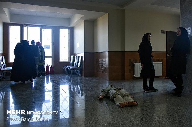 Quake drills at Ferdowsi University