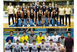 مصاف تیم های بسکتبال و فوتسال شهرداری در لیگ یک کشور