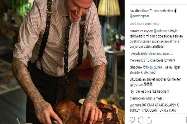 David Beckham'ın hindi paylaşımına yüzlerce 'Türkiye' yorumu