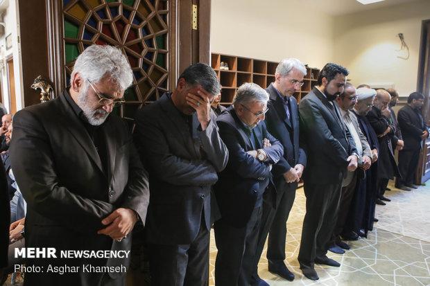 مراسم یادبود جانباختگان حادثه دانشگاه آزاد