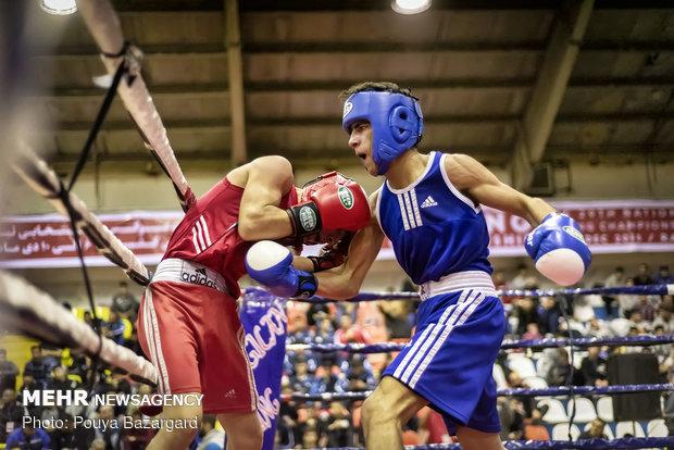 البطولة الوطنية للملاكمة للشباب في مدينة رشت الايرانية