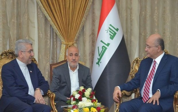 Iraqi president calls for closer energy coop. with Iran