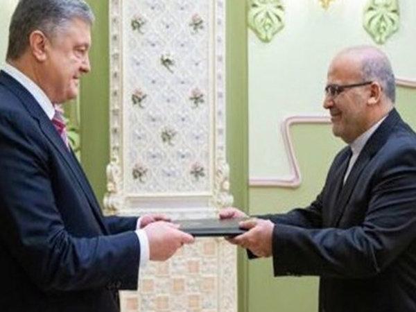 Iran new envoy to Ukraine presents credentials to pres. Poroshenko