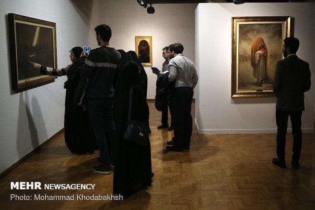 """افتتاح معرض """"الحق مع علي"""" للرسم"""