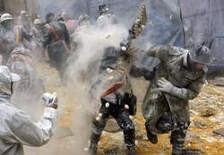 İspanya'da un ve yumurta savaşı !