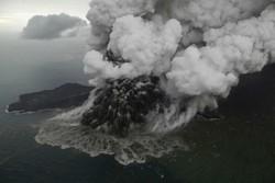 آتشفشان ۱۵۰ میلیون مترمربع از جزیره را بلعید!