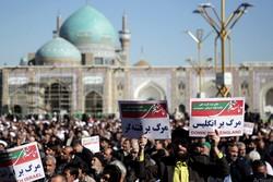 راهپیمایی ۹ دی ۸۸ برگ زرینی در افتخارات مردم مشهد است