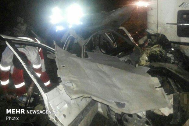 راننده سواری در تصادف با ۲خودرو کامیون در پلدختر-اندیمشک جان باخت