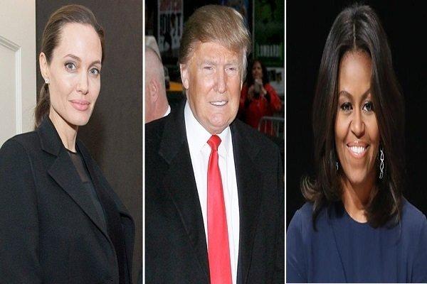 ميشيل أوباما وانجلينا جولي منافستا ترامب في انتخابات 2020