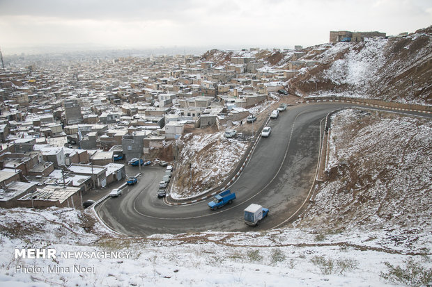 First snow in Tabriz this year