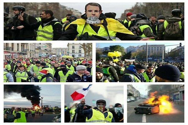 تظاهرات جلیقهزردها در فرانسه برگزار شد