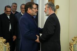 دیدار دبیر کل جنبش جهاد اسلامی فلسطین با علی شمخانی
