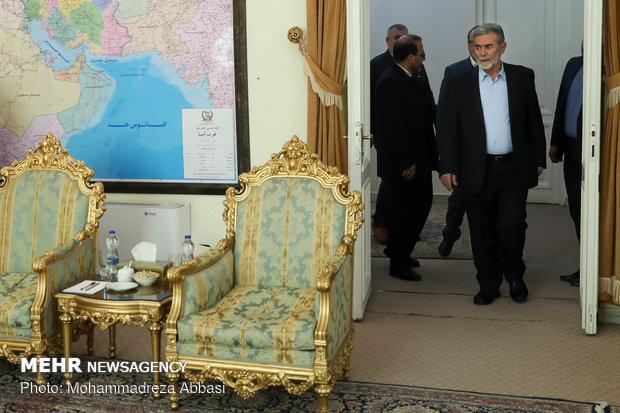 استقبال شمخاني للأمين العام لحركة الجهاد الإسلامي