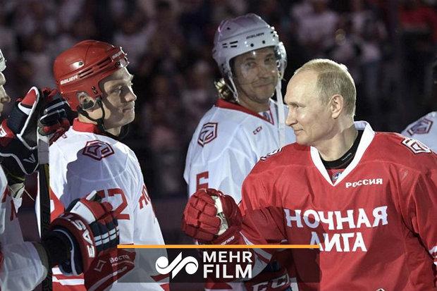 فلم/ صدر پوتین نے ہاکی میچ میں حصہ لیا
