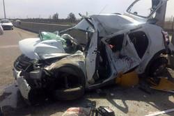 سانحه رانندگی در محور ساوه - تهران یک کشته برجای گذاشت