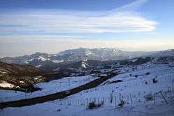 """Heyran"" dağ geçidinden kış manzaraları"