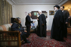 President Rouhani visits Christian family