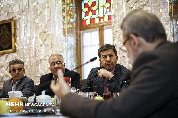 دیدار جمعی از شهرداران کلانشهرها با علی لاریجانی رئیس مجلس شورای اسلامی