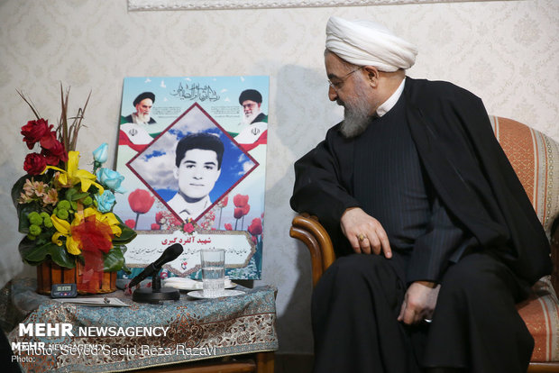 President Rouhani visits Christian family
