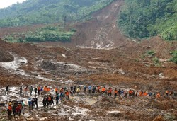 Indonesia landslide leaves 9 dead, dozens missing