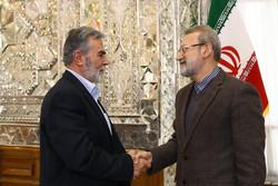 İran Meclis Başkanı Filistin heyetiyle bir araya geldi