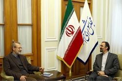 اهمیت روابط ایران و روسیه؛ محور گفتگوی لاریجانی و سنایی