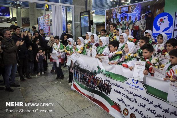 Genius kids return home after sweeping global abacus medals